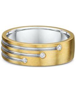 10k Yellow Gold Diamond Mens Ring