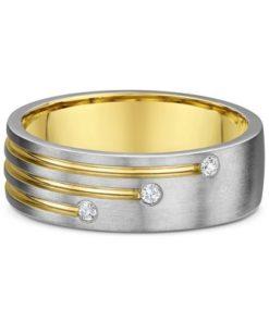 14k Mens Two Tone Diamond Ring .025ct