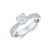 14k White Gold Diamond Engagement Ring 0.34ct