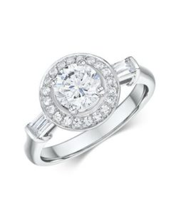 14k White Gold Engagement Ring .44 ct