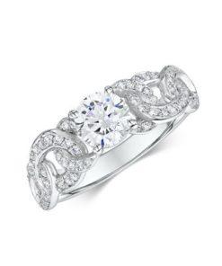 14k White Gold Engagement Ring .33 ct