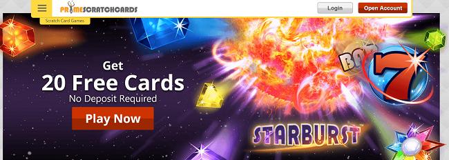 bonuscode primescratchcards casino