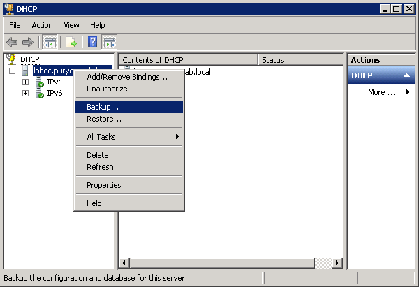 Windows Server DHCP Backup And Restore 1