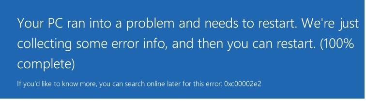 Windows Server Error 0x00002e2