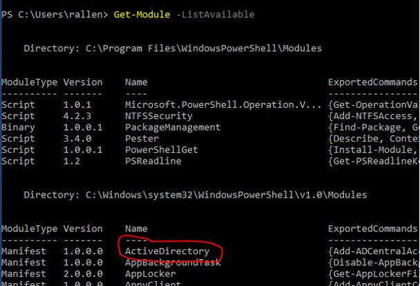 Check-Active-Directory-Module