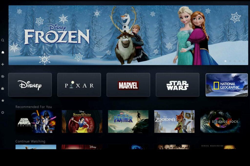 Disney Plus interface