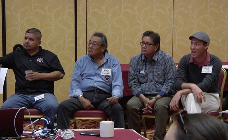 During a session on traditional knowledge, presenters discussed projects that combine traditional knowledge with modern agriculture.
