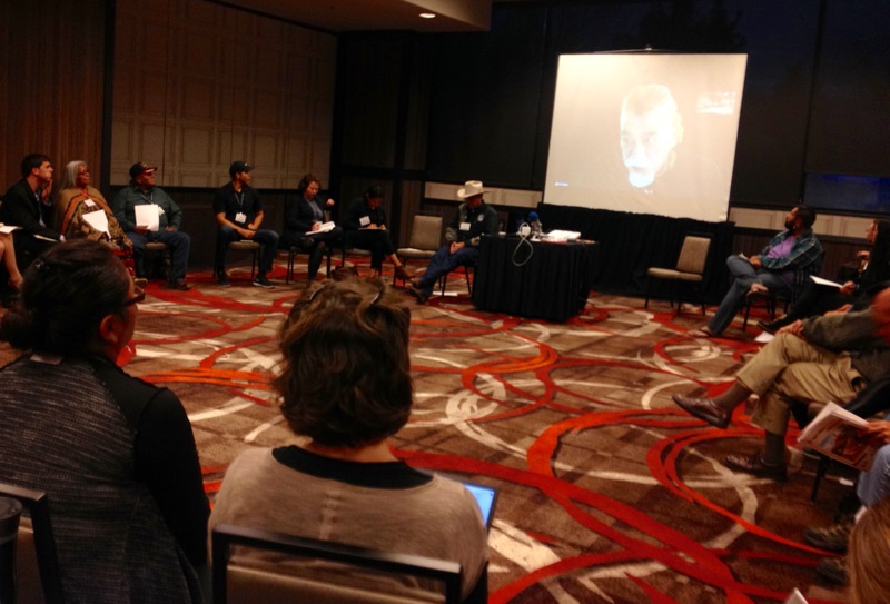 During the traditional knowledge breakout session, panelist Kapuna Kalani Souza joined the conversation via Skype.