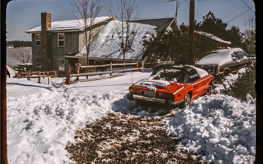 Matt's Triumph in the snow.