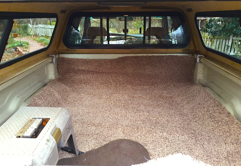 Carpet almost ready.