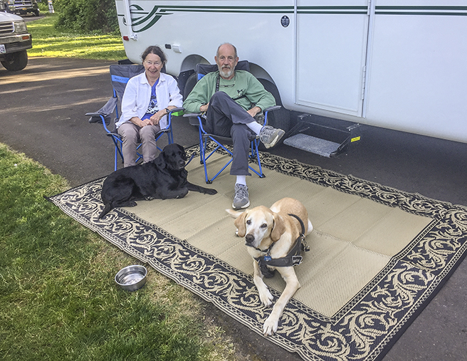 Woof, Maggie, Joy, Bob, and me at the place they were camping. Matt took the picture!