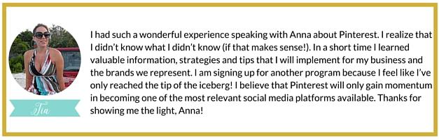 Pinterest Marketing Expert Anna Bennett Customer Testimonial | White Glove Social Media Marketing
