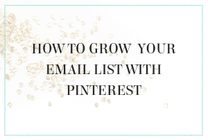 PINTEREST MANAGEMENT SERVICES PRO REVEALS PROVEN WAYS TO GROW YOUR EMAIL LIST
