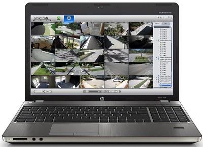 laptop video monitoring multiple views