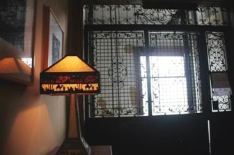 Lamp & Elevator Door