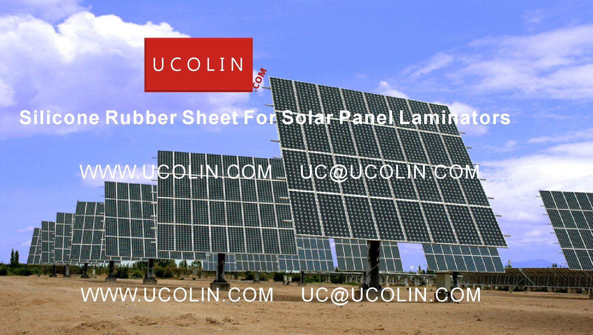 003 Silicon Rubber Sheet For Solar Panel Laminators