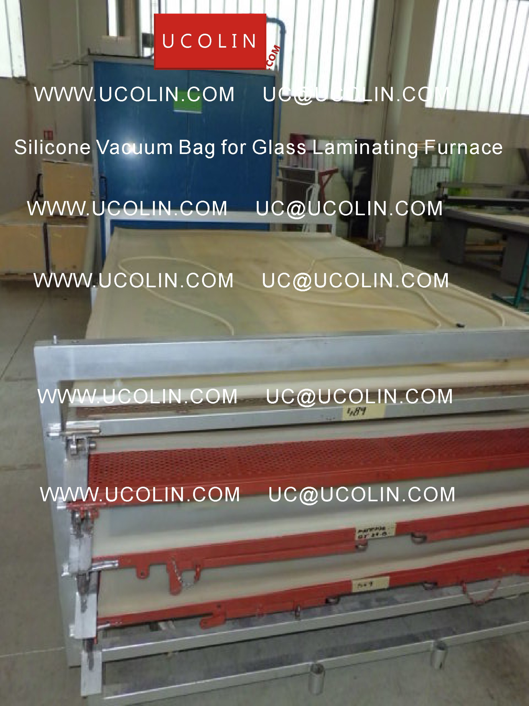 02 Application G Silicone Vacuum Bag for Safety Glass Laminating Furnace