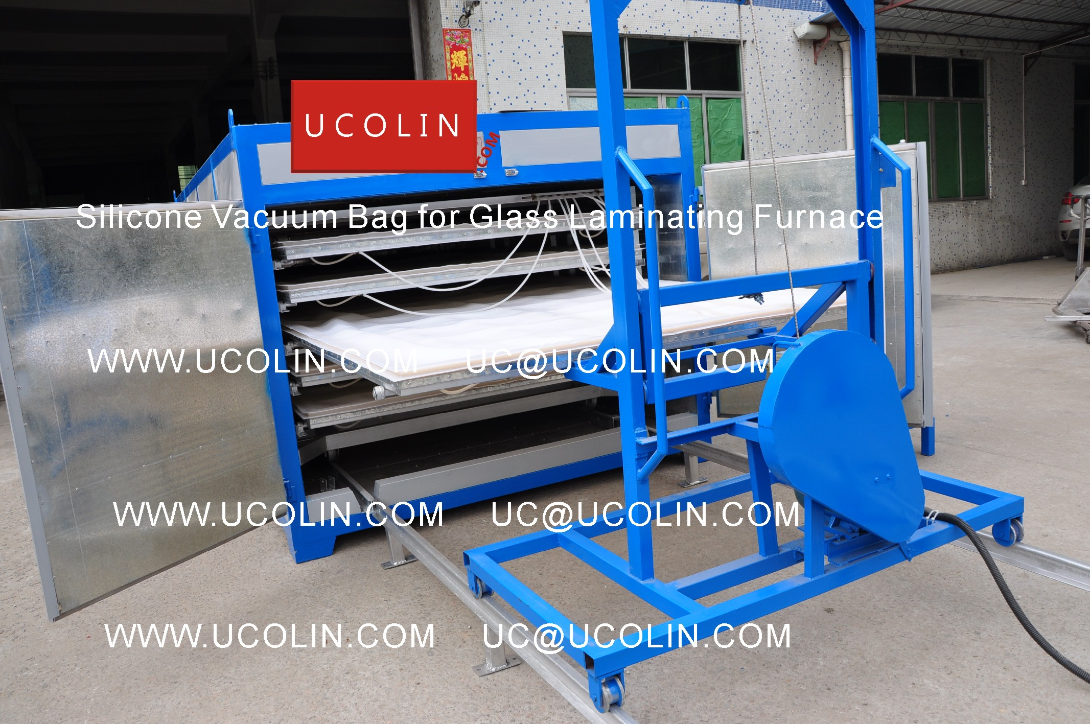 06 Application of Silicone Vacuum Bag for Glass Laminating Furnace