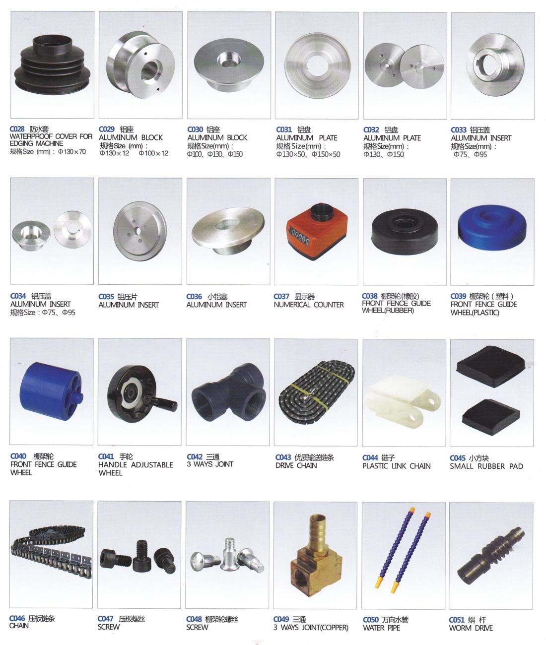 17_Wheels&Accessories for Straight Line Glass Edging Machine
