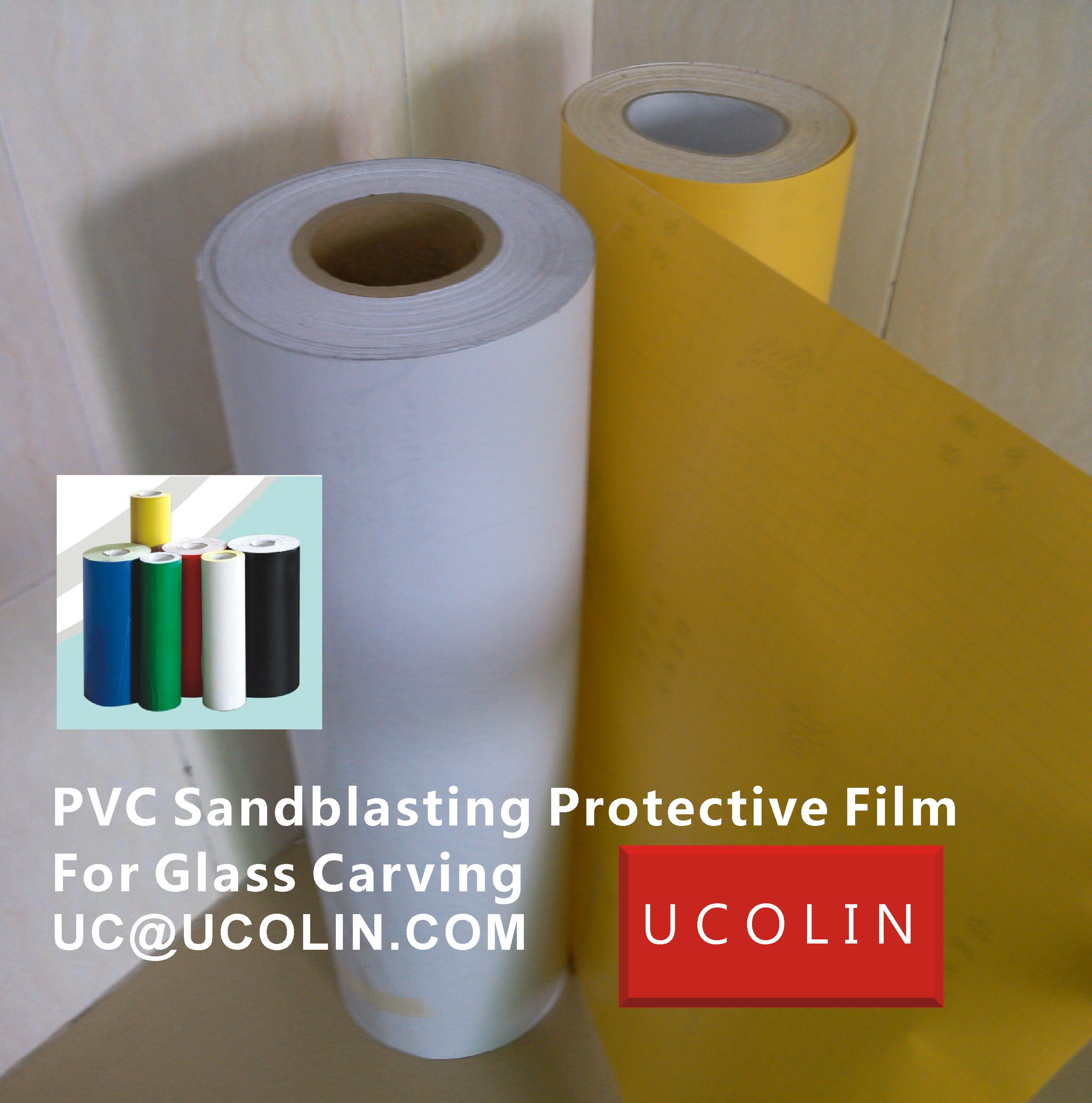 02 PVC Sandblasting Protective Film For Glass Carving