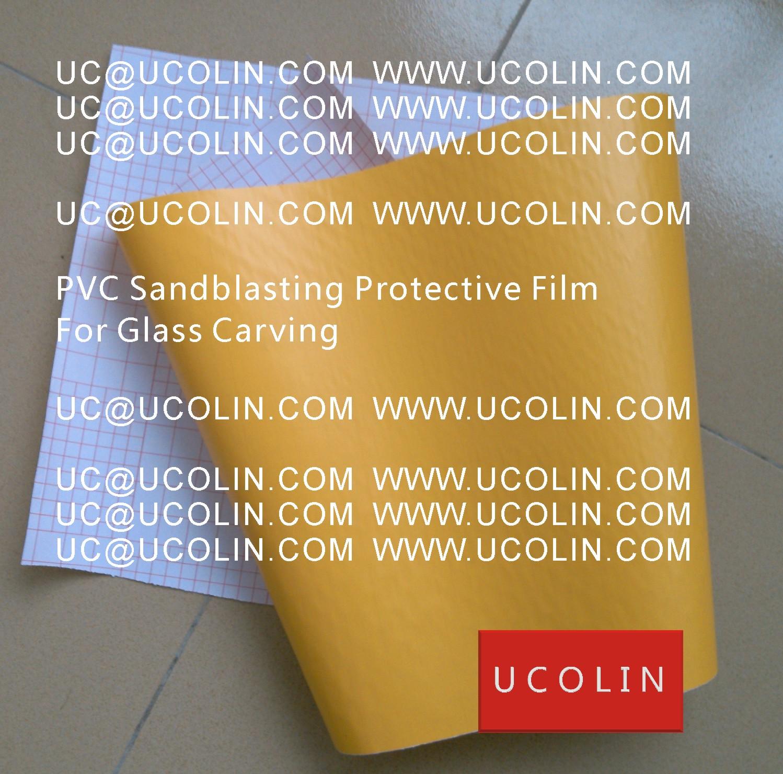 004 PVC Sandblasting Protective Film For Glass Carving