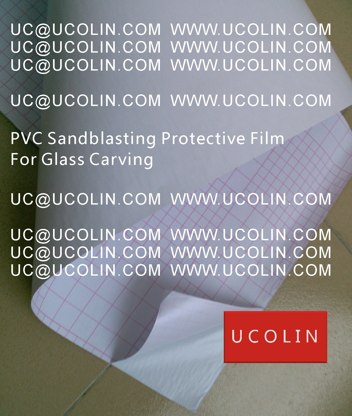 005 PVC Sandblasting Protective Film For Glass Carving