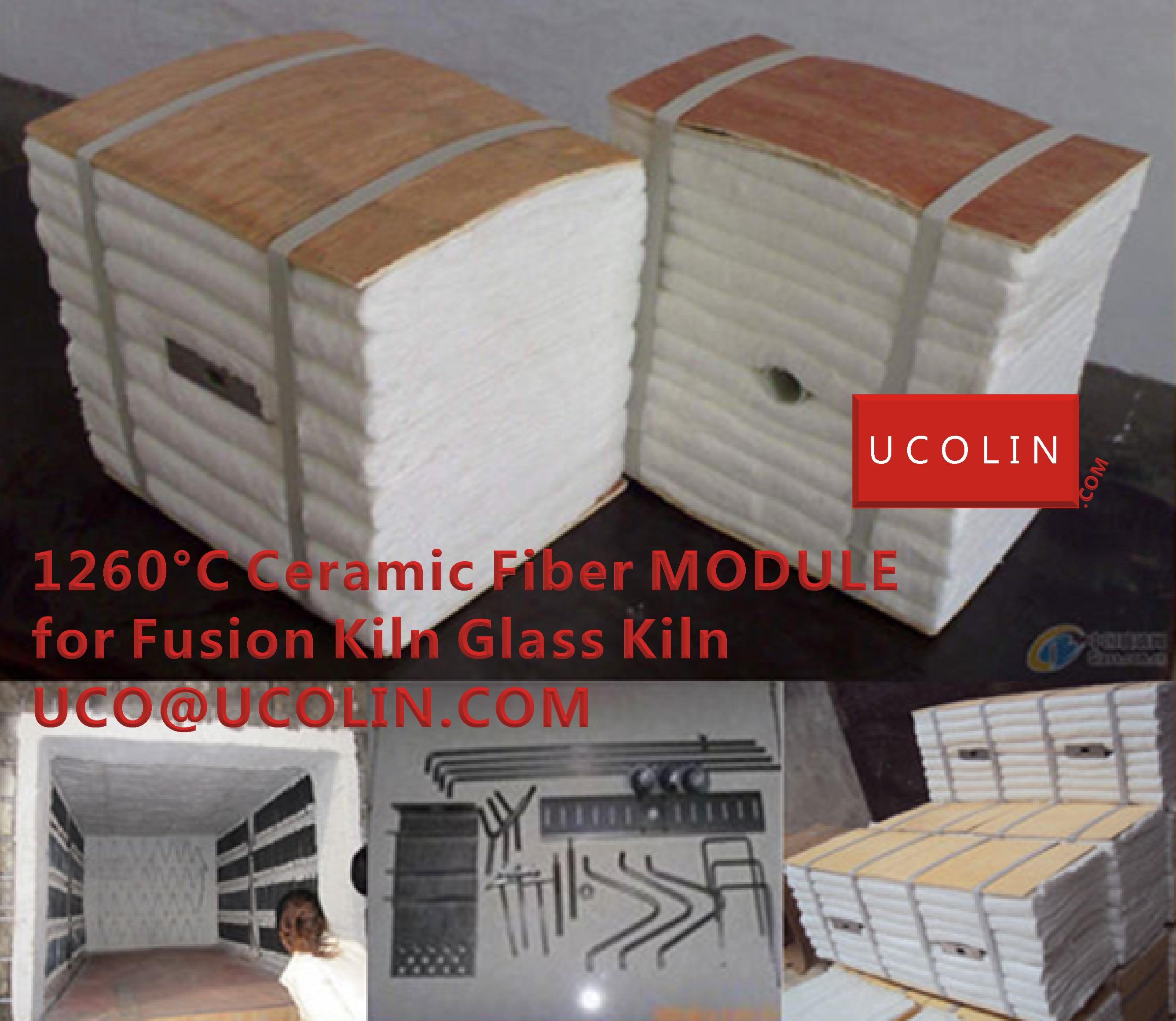 1260°C Ceramic Fiber MODULE for Fusion Kiln Glass Kiln