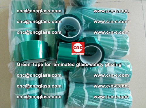 Green Tape for laminated glass safety glazing, EVA FILM, PVB FILM, SGP INTERLAYER (40)