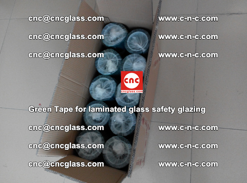 Green Tape for laminated glass safety glazing, EVA FILM, PVB FILM, SGP INTERLAYER (75)