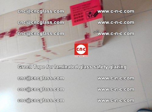 Green Tape for laminated glass safety glazing, EVA FILM, PVB FILM, SGP INTERLAYER (80)