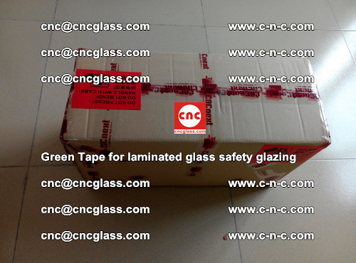 Green Tape for laminated glass safety glazing, EVA FILM, PVB FILM, SGP INTERLAYER (81)