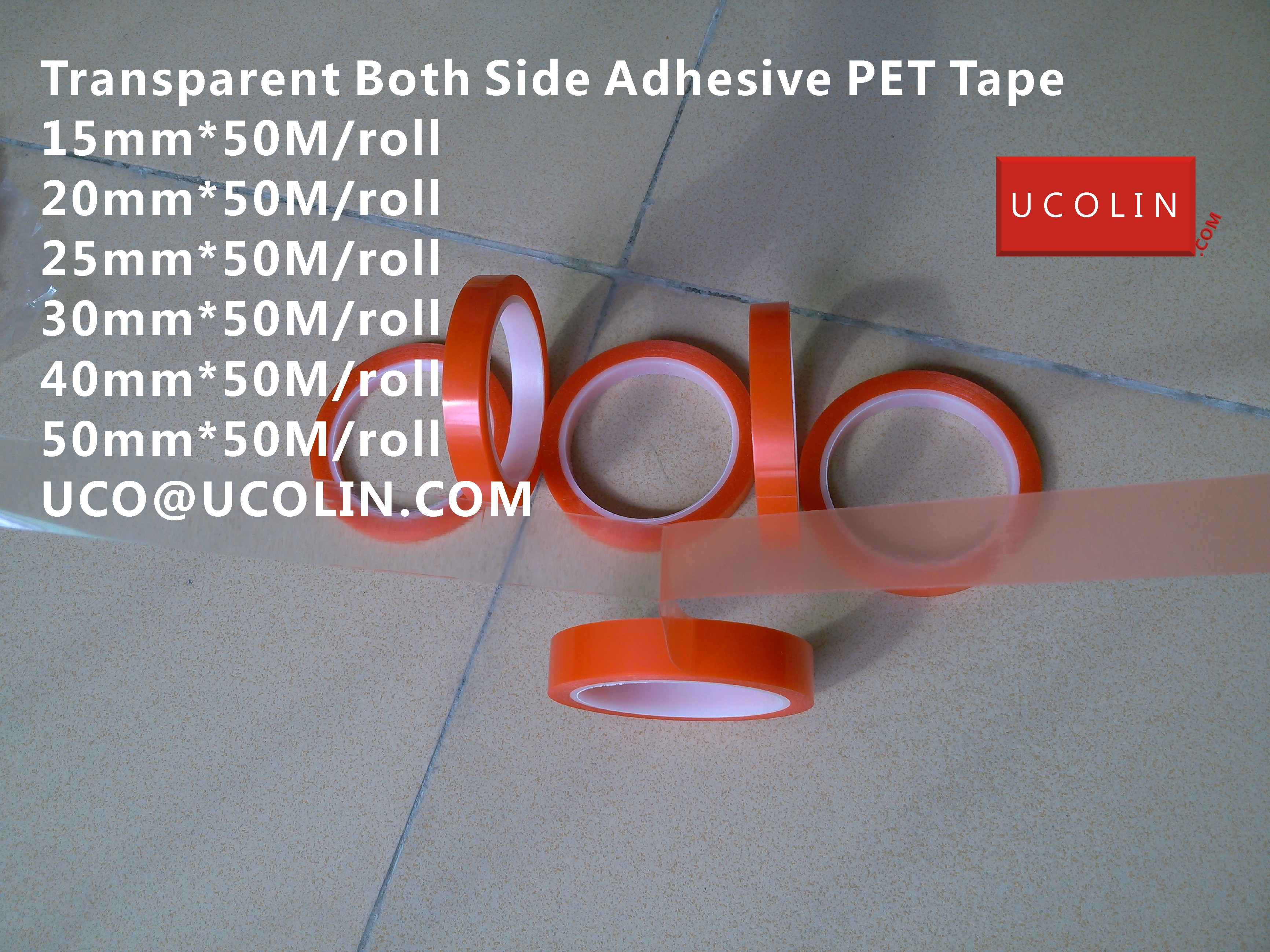Transparent Both Side Adhesive PET Tape