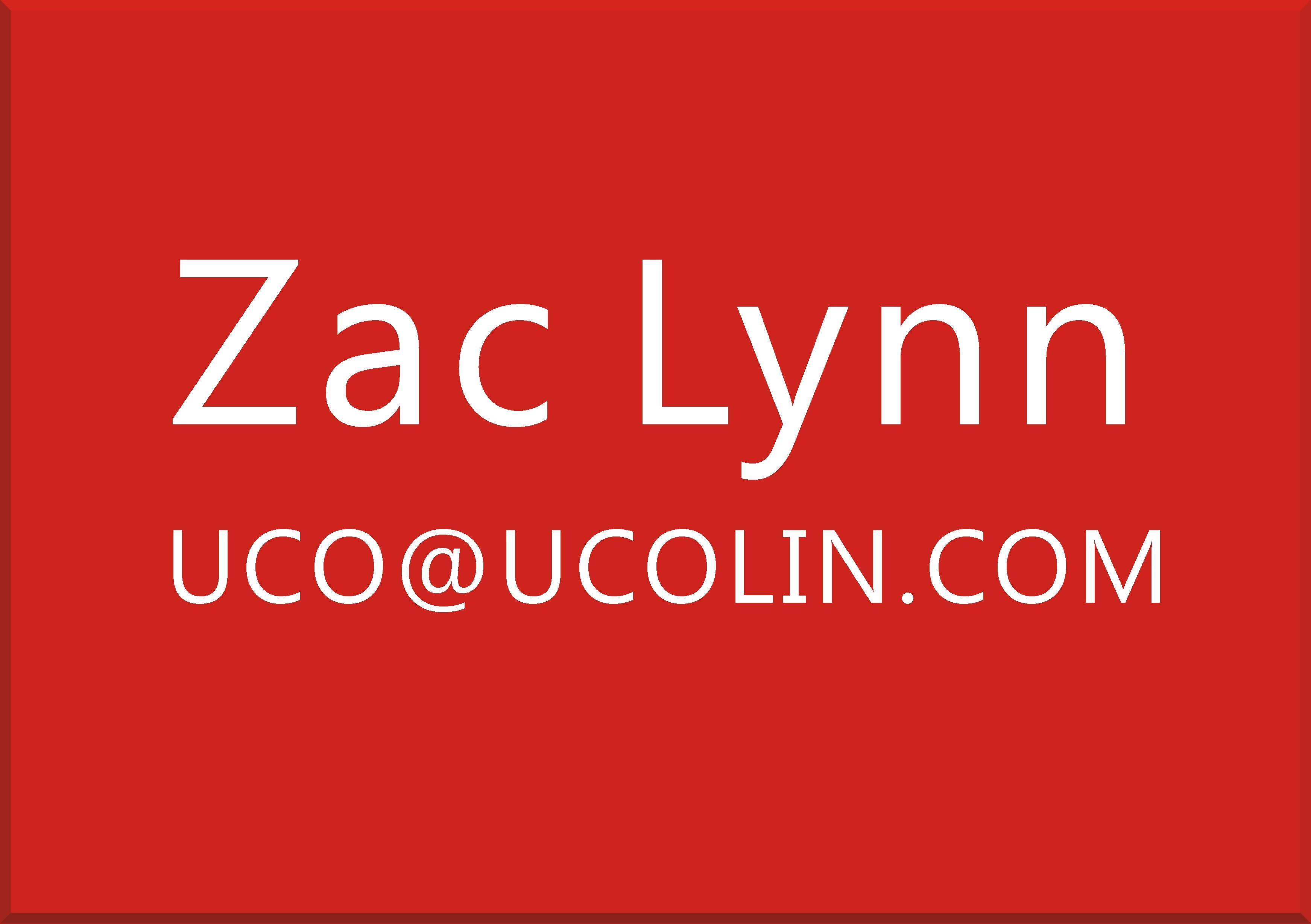 ZAC LYNN  UCO@UCOLIN.COM