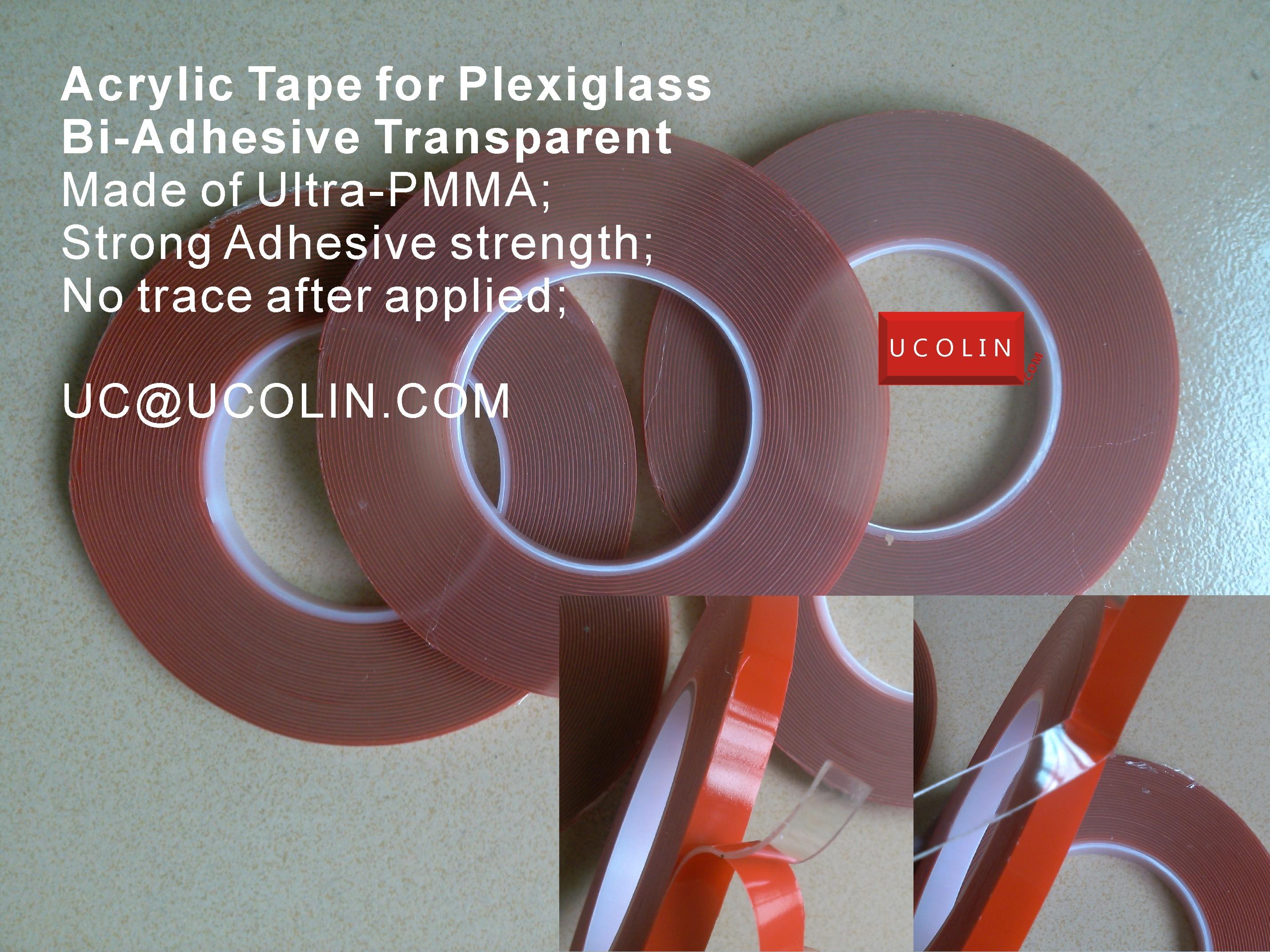 Acrylic Tape for Plexiglass and Glass (Bi Transparent)