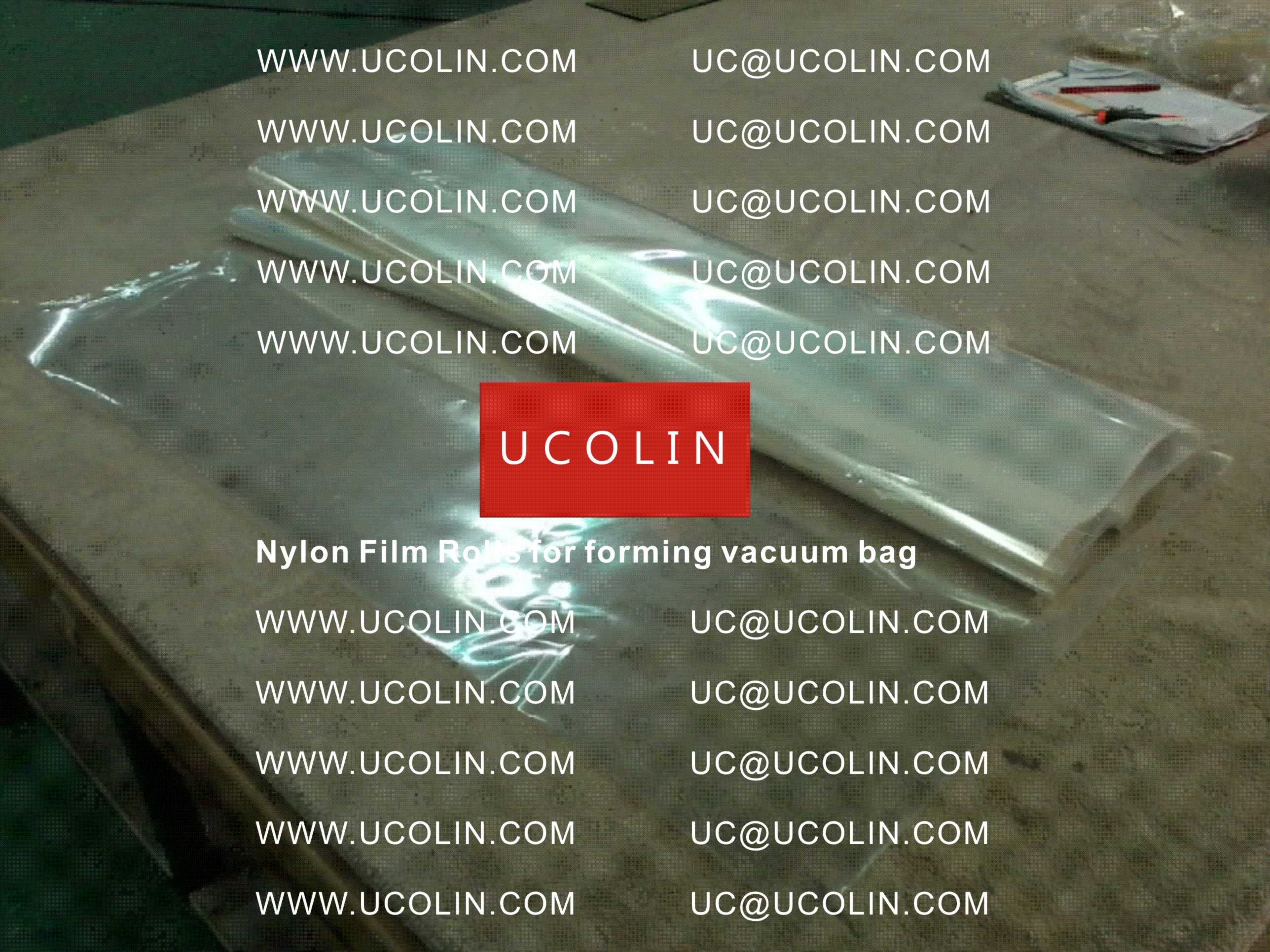 002 Disposable Nylon Film Rolls for Forming Vacuum Bag for Laminating Curved Glass in Autoclave