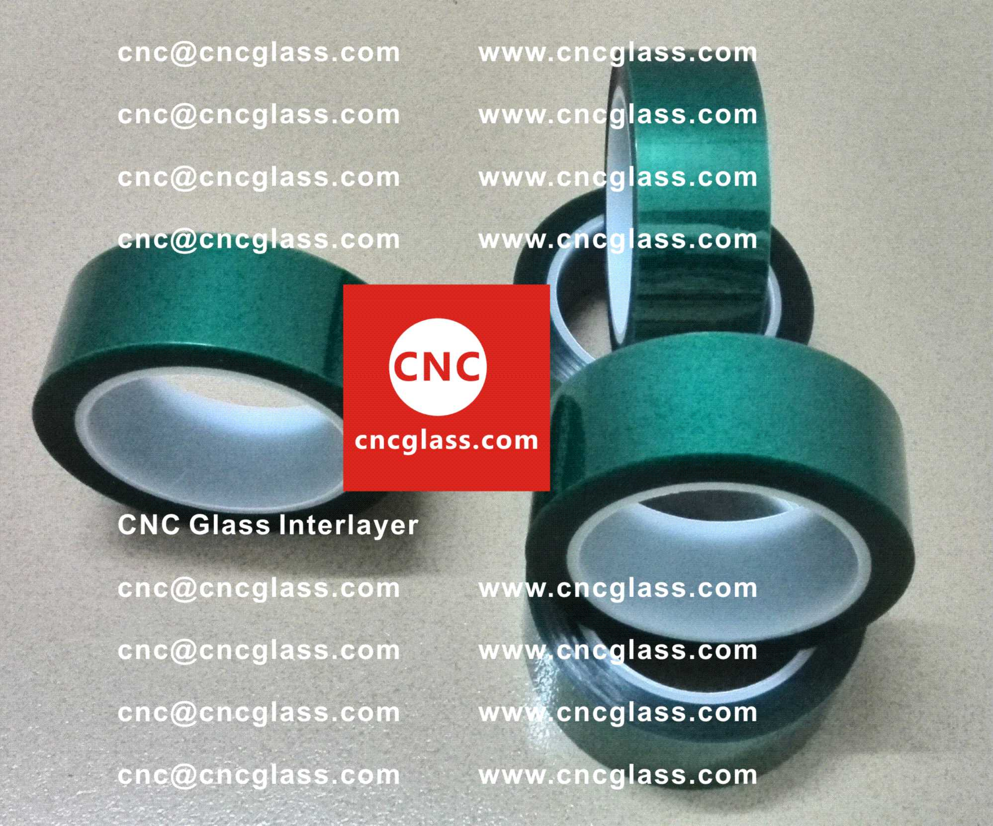 0001 Green Tape for safety glazing, eva glass laminating