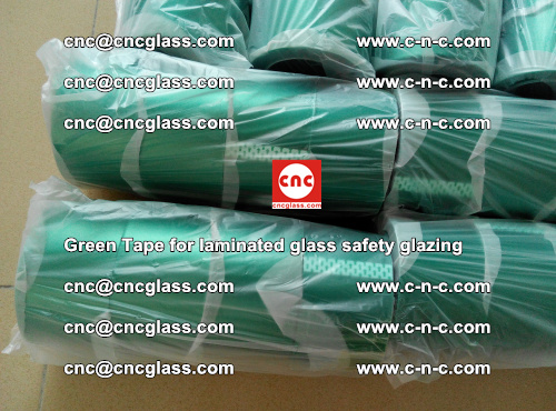 Green Tape for laminated glass safety glazing, EVA FILM, PVB FILM, SGP INTERLAYER (20)