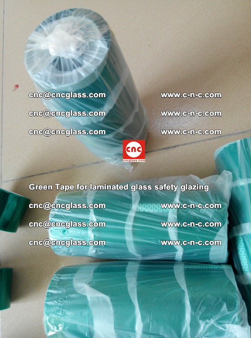 Green Tape for laminated glass safety glazing, EVA FILM, PVB FILM, SGP INTERLAYER (24)