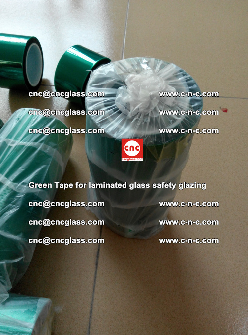 Green Tape for laminated glass safety glazing, EVA FILM, PVB FILM, SGP INTERLAYER (25)