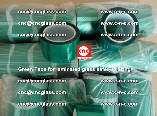 Green Tape for laminated glass safety glazing, EVA FILM, PVB FILM, SGP INTERLAYER (34)