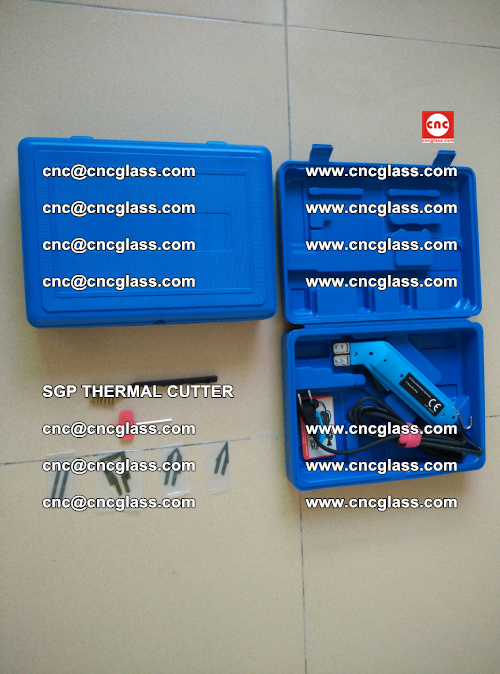 SGP THERMAL CUTTER, cleaning safety laminated galss edges (11)
