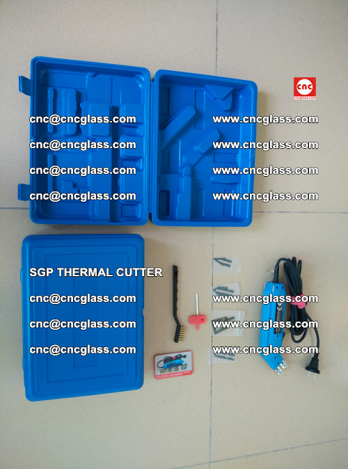 SGP THERMAL CUTTER, cleaning safety laminated galss edges (36)