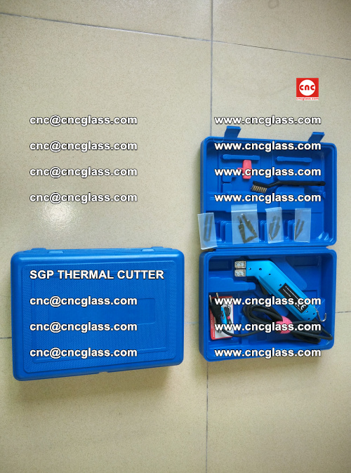 SGP THERMAL CUTTER, cleaning safety laminated galss edges (4)