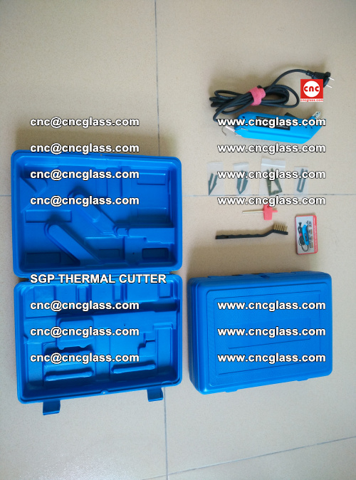 SGP THERMAL CUTTER, cleaning safety laminated galss edges (40)