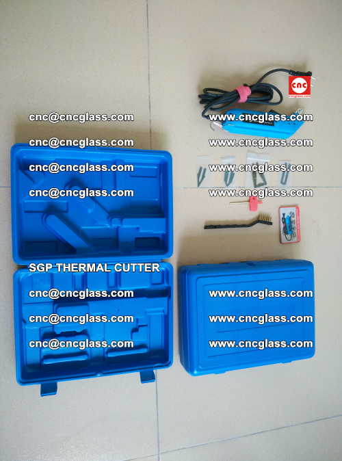 SGP THERMAL CUTTER, cleaning safety laminated galss edges (41)