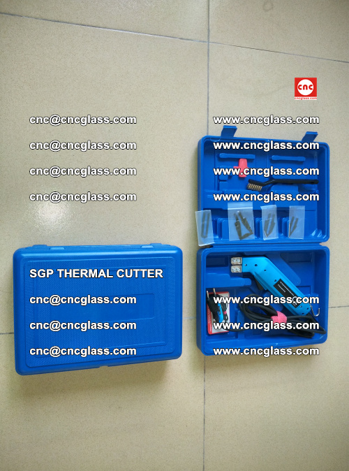 SGP THERMAL CUTTER, cleaning safety laminated galss edges (5)