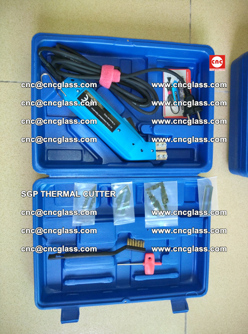 SGP THERMAL CUTTER, cleaning safety laminated galss edges (8)
