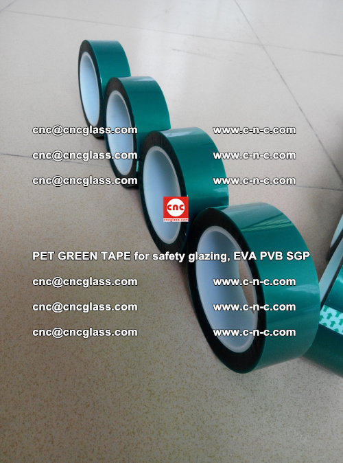 PET GREEN TAPE for safety glazing, EVA PVB SGP (15)