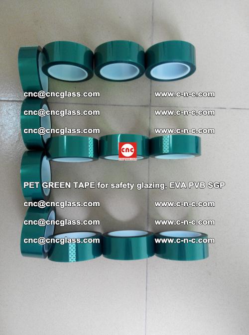 PET GREEN TAPE for safety glazing, EVA PVB SGP (20)