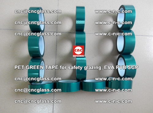 PET GREEN TAPE for safety glazing, EVA PVB SGP (35)